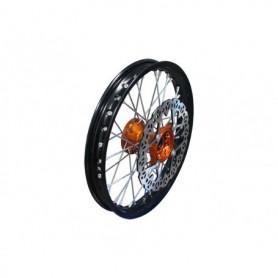 "Roue Complete Avant Aluminium 14"" avec Moyeux CNC YCF Orange"