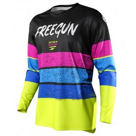 maillot-cross-freegun-enfant-devo-stripe-jaune-fluo-bleu-rose-21
