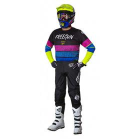 tenue-motocross-freegun-enfant-devo-stripe-jaune-fluo-bleu-rose-21
