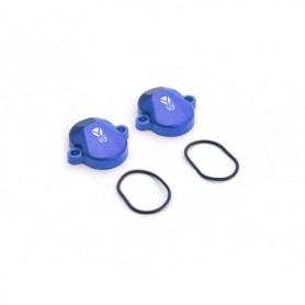 Paire de Cache Soupape pour YCF 150 KLX Blue
