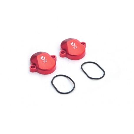 Paire de Cache Soupape pour YCF 150 KLX Red