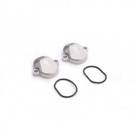 Paire de Cache Soupape pour YCF 150 KLX Silver