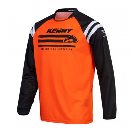 maillot-cross-kenny-raw-orange-fluo-enfant