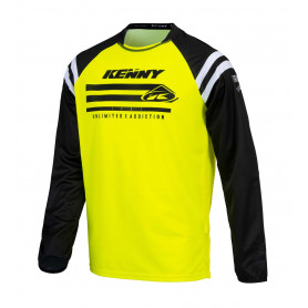 maillot-cross-kenny-raw-jaune-fluo-enfant