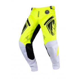 pantalon-cross-kenny-titanium-jaune-fluo-blanc