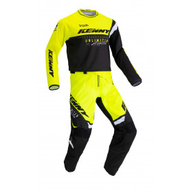 tenue-motocross-kenny-track-focus-jaune-fluo-enfant