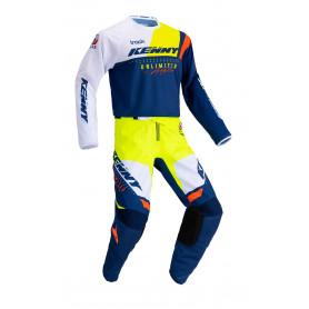 tenue-motocross-kenny-track-focus-bleu-jaune-fluo-enfant