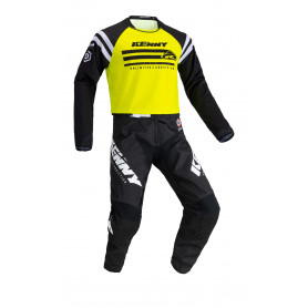 tenue-motocross-kenny-track-raw-jaune-fluo-enfant