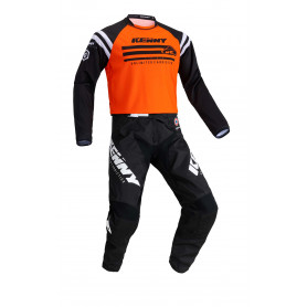 tenue-motocross-kenny-track-raw-orange-enfant