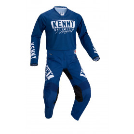 tenue-motocross-kenny-performance-race-bleu