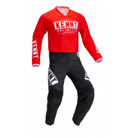 Tenue Motocross KENNY Performance Race Noir Rouge 21