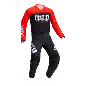 tenue-motocross-kenny-performance-solid-rouge-noir