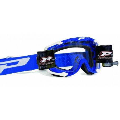 Masque Cross PROGRIP 3408 Roll Off XL Bleu