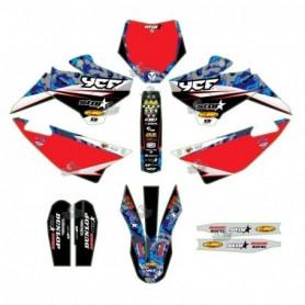 Kit Déco YCF D'Cor Star Racing Camo Pour Pilot 16-17 & Factory 16