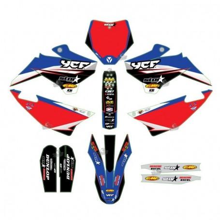 Kit Déco YCF D'Cor Star Racing Pour Pilot 16-17 & Factory 16
