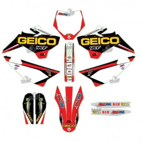 Kit Déco YCF D'Cor Geico Pour Pilot 16-17 & Factory 16