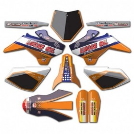 Kit Déco YCF N Style Lucas Oil Orange Pour Lite & Start