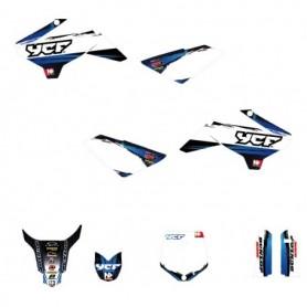 Kit Déco YCF Accelerator Bleu Pour 50 cc