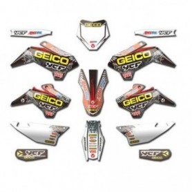 Kit Déco YCF Geico Pour Start 08-17 / Pilot 13-15 & Factory 12-15