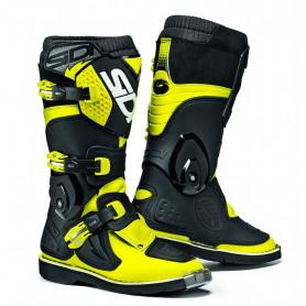 bottes-moto-cross-sidi-enfant-flame-jaune-fluo-noir
