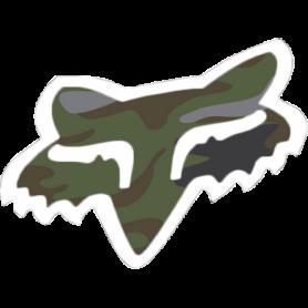 Stickers FOX Head 4.5 cm Camo