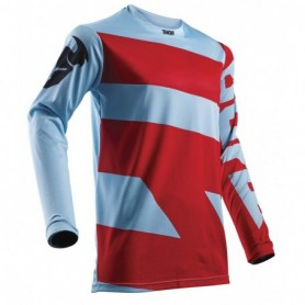 Maillot Cross THOR Pulse Level Powder Blue Red 18