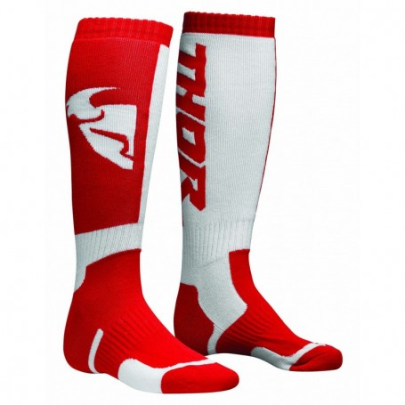 Chaussettes de cross THOR Youth MX Red White