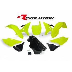 Kit Plastique RTECH Avec Réservoir 125-250 YZ 02-19 Jaune Fluo Noir