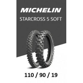 Pneu arrière MICHELIN STARCROSS 5 Soft 110/90/19
