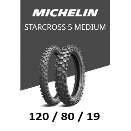 Pneu arrière Michelin STARCROSS 5 Medium 120/80/19