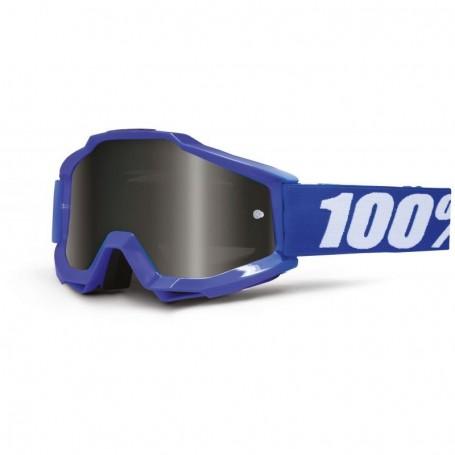 Masque Cross 100% The Accuri Reflex Blue Spéciale Sable Grey Fumé