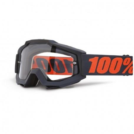 Masque Cross 100% The Accuri Gunmetal Enduro Clair
