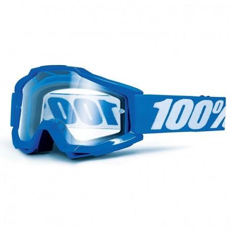 Masque Cross 100% The Accuri Reflex Blue Spéciale OTG Clair