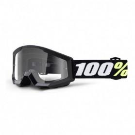 Masque Cross 100% Strata Mini Black Clair Enfant 3/6 Ans