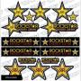 Planche de Stickers BURN OUT Rockstar Energy