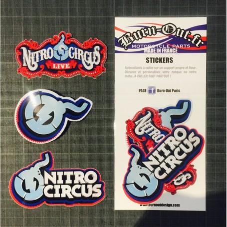 Pochette de 6 Stickers BURN OUT Nitro Circus