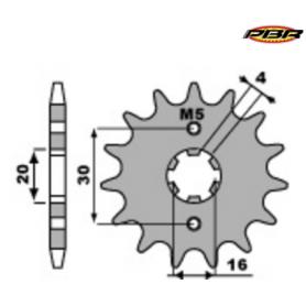 Pignon PBR acier standard pour Yamaha TTR et YBR