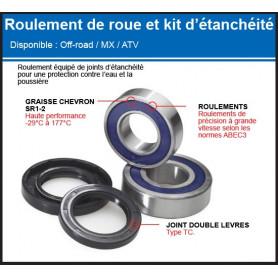 Kit roulements et joints de roue YZ 65 et 85 cc 17/21