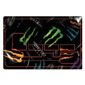 Stickers de Carte Bancaire BURN OUT Monster Energy A