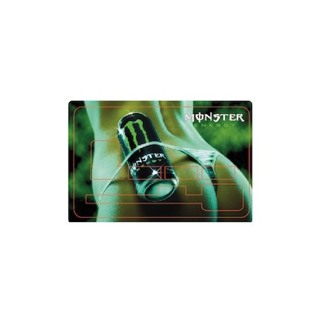 Stickers de Carte Bancaire BURN OUT Monster Energy B