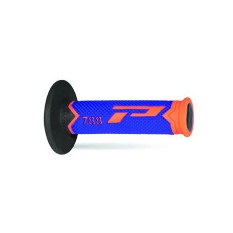 Jeu de poignées PROGRIP 788 Orange Fluo Bleu Noir