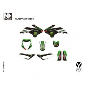 Kit Déco YCF N-Style Team Green Monster Pro Circuit Pour 50 cc