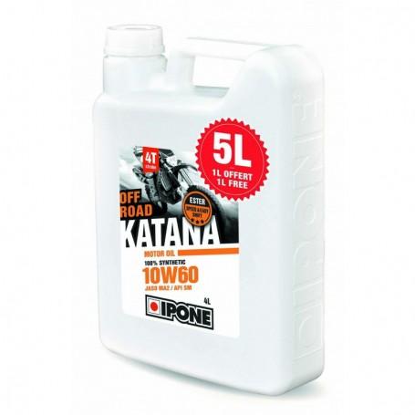 Huile-IPONE-100-%-Synthèse-Katana-Off-Road-10w60-Spécial-KTM-&-HVA-5-Litres
