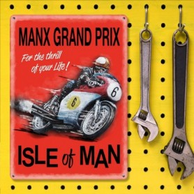 Plaque Métal A 40 x 30 cm Isle Of Man Grand Prix LES COLLECTIONS RETRO