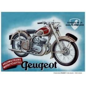 Plaque Métal A 40 x 30 cm Peugeot Moto LES COLLECTIONS RETRO