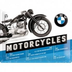 Plaque Métal Relief 40 x 30 cm BMW Bike H NOSTALGIC ART