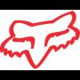Stickers FOX Head TDC 10 cm Red