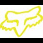 Stickers FOX Head TDC 10 cm Flo Yellow