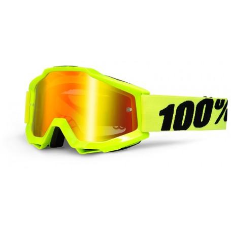 Masque Cross 100% The Accuri Fluo Yellow Miroir