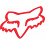 Stickers FOX Head TDC 4.5 cm Red